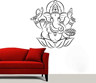 Wall Attraction Ganesha Wall Sticker Wallpaper Decoration Size - 22X23inch