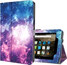 Ztotop Folio Case for Amazon Fire HD 8 Tablet (8th/7th Generation,2018 and 2017 Release) - Smart Leather Cover Slim Folding Stand Case with Auto Wake/Sleep for Fire HD 8 Tablet Galaxy