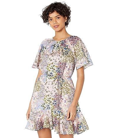 Ted Baker Lalu Urban Printed Fluted Hem Mini Dress Women