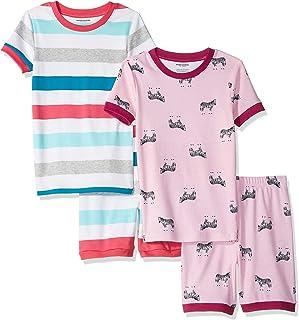 Amazon Essentials Toddler and Kid's 4-Piece Short Sleeve Pajama Set