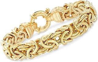 Ross-Simons Italian 24kt Gold Over Sterling Silver Byzantine Bracelet