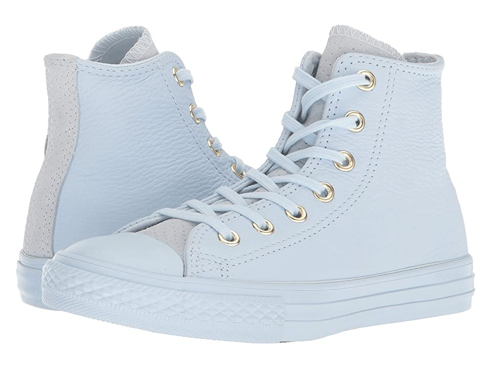 Converse Kids Chuck Taylor(r) All Star(r) New Heritage Leather Hi (Little Kid/Big Kid) (Blue Tint/Gym Red/Blue Tint) Girls Shoes