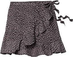 Leopard Print Faux Wrap Skirt 69-5156
