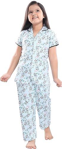 Girls Cotton Printed Night Suit Night Dress 6621