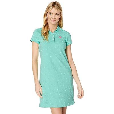 U.S. POLO ASSN. Dot Polo Dress (Trellis Aqua) Women
