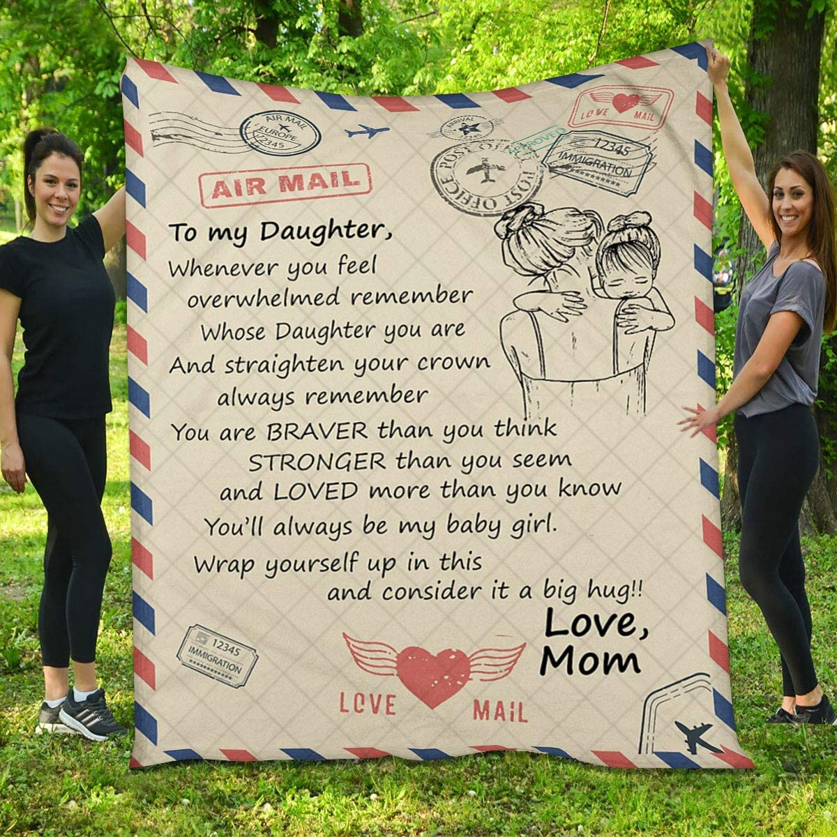 Daughter Quilt Max 81% OFF from Mom - and Girl Max 59% OFF Stronger Letter Than