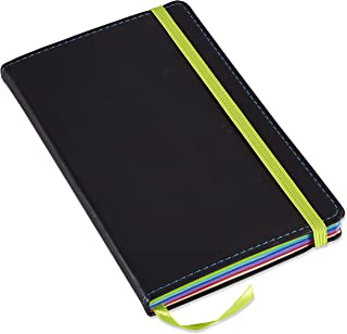 Neenah Paper 98831-01 Astrobrights Color POP Journal, 47-lb, 5.12 x 8.25-Inches, 240-Pages, Soft Italian Leather Cover, Black (98831)