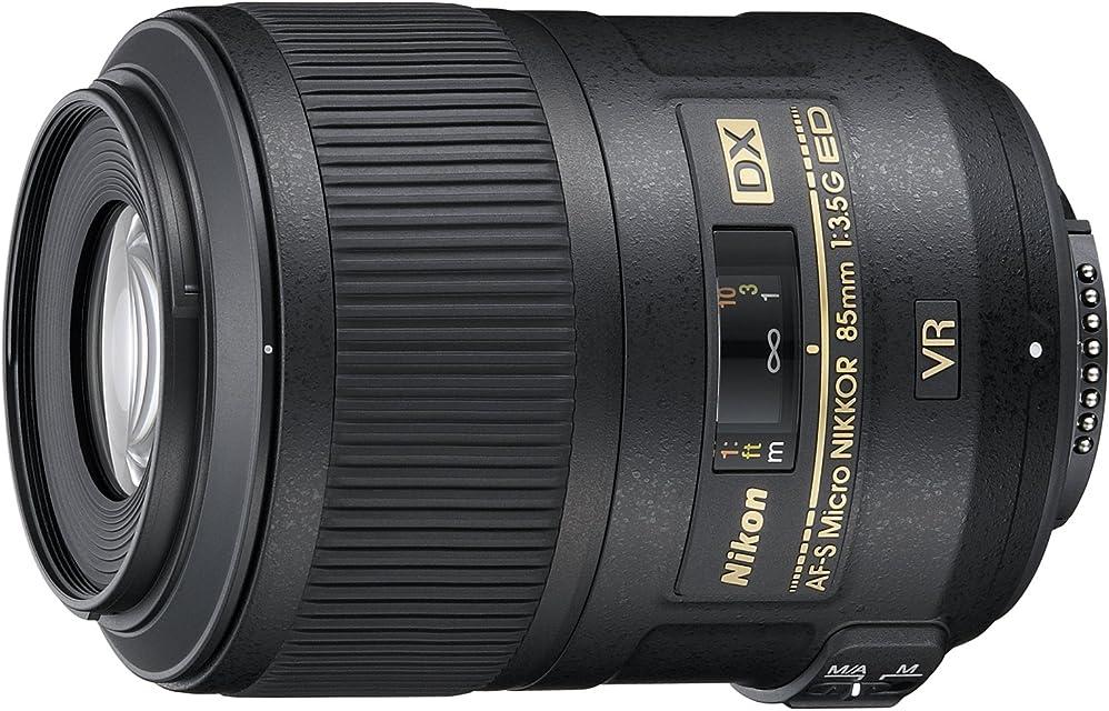 Nikon AF-S DX Micro 85mm F3.5 G ED - Objetivo con Montura para Montura F de Nikon (Distancia Focal Fija 127.5mm Apertura f/3.5 estabilizador de Imagen)