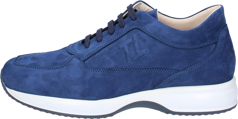 TRIVER FLIGHT Fashion-Sneakers Mens Nubuck bluee