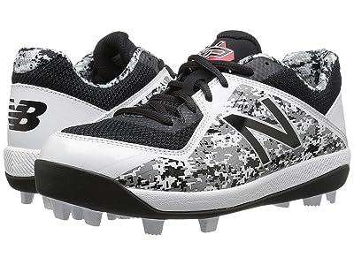 New Balance Kids J4040v4 Baseball (Little Kid/Big Kid) (Black/Camo) Kids Shoes