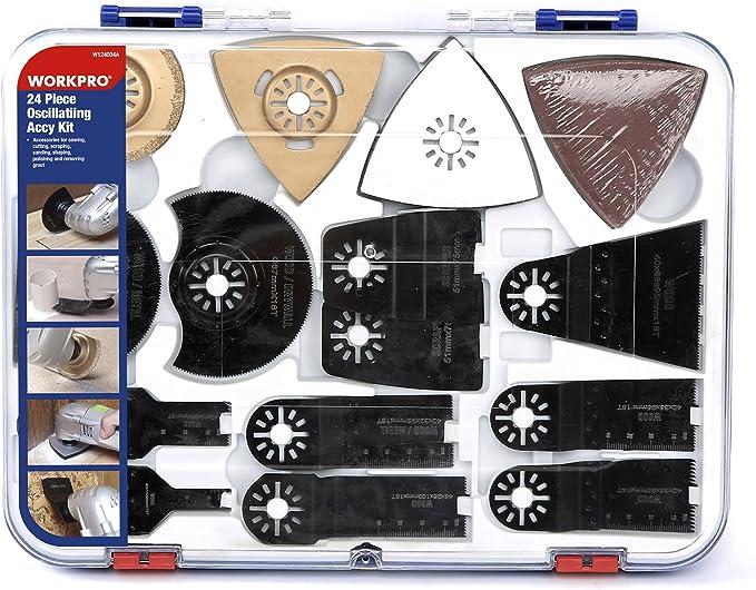 3615 opinioni per WORKPRO Kit di Accessori Oscillanti per Levigatura, Smerigliatura e Taglio,