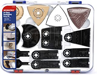 WORKPRO 24-Piece Oscillating Accessory Kit, Mixed Multitool Saw Blades for Sanding,..