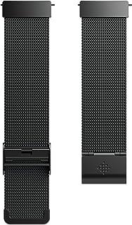 Fitbit Versa Malla METÁLICA DE Acero Inoxidable, Unisex Adulto, Negro, One Size