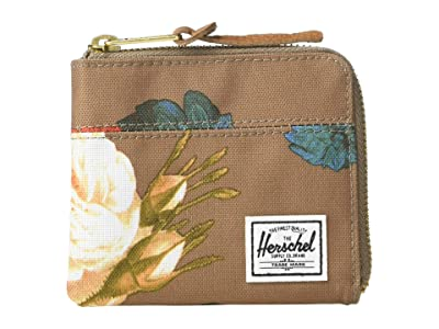 Herschel Supply Co. Johnny RFID (Vintage Floral Pine Bark) Wallet Handbags