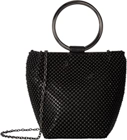 Gwen Ball Mesh Ring Wristlet Pouch Clutch