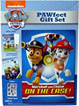 Paw Patrol PAWfect Gift Set Marshall and Chase On The Case! includes 8 complete adventures on DVD, 1 Coloring Book and 4 Crayons, 1 Poster and 1 Sticker Sheet