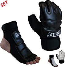 Sparring Set MMA Gloves Hand Foot Protector Taekwondo Sparring Gear for Martial Arts Punch Bag Kickboxing Foot Guards Karate Training Boxing Gloves Foot Gear for Men Women Kids XS-XL