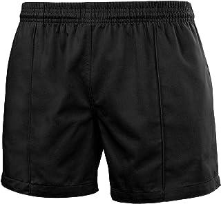 FitsT4 Men & Women Pro Rugby Shorts Sports Team Training Wear Elastic Waist Shorts with Pockets