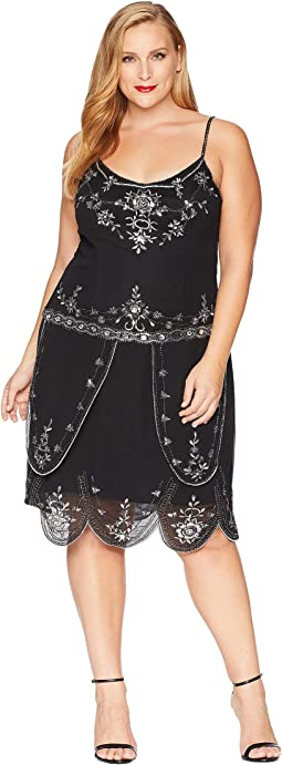 Plus Size Deco Style Embellished Odette Cocktail Dress