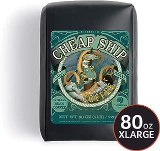Coffee Bean Direct Cheap Ship™ Dark Roast Blend, Whole Bean Coffee, 5-Pound Bag