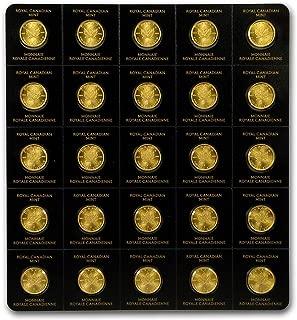 2019 CA 25x 1 gram Gold Maple Leafs Maplegram25™ (In Assay Sleeve) Gold Brilliant Uncirculated