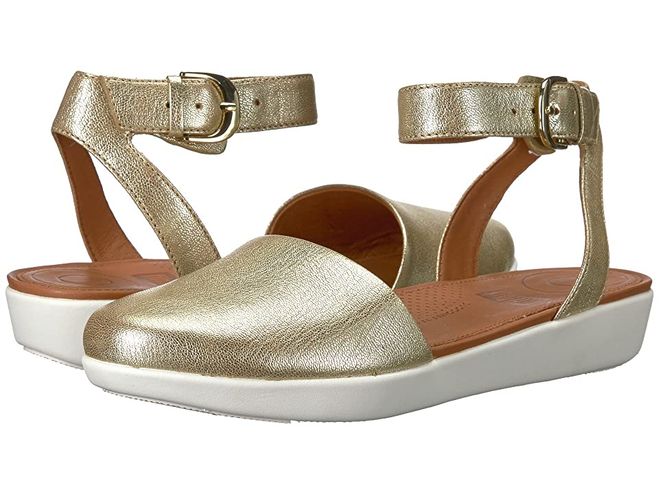 FitFlop Cova Closed Toe Sandals (Metallic Gold) Women