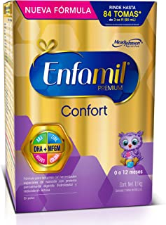 Fórmula Láctea Infantil con Proteína Parcialmente Hidrolizada, Enfamil Confort Premium para Lactantes de 0 a 12 meses, Caja de 1,100 gramos