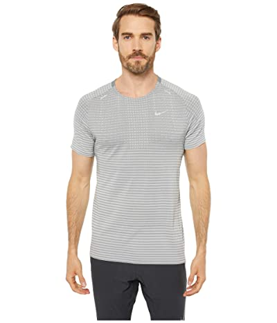 Nike Techknit Ultra Short Sleeve (Smoke Grey/Light Smoke Grey/Reflective Silver) Men