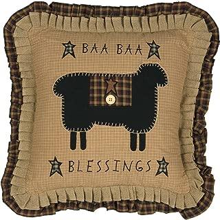 VHC Brands Seasonal Primitive Pillows & Throws Baa Blessings 18
