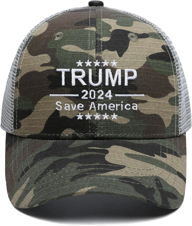 Camo Trump 2024 Hats for Men Women Trump Cap Save America Hat Baseball Cap Dad Hat Sun Hat