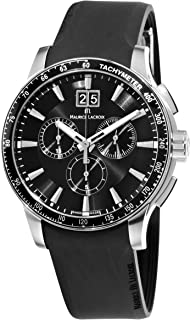 Maurice Lacroix - MI1098-SS041330 Miros Sport Reloj con cronógrafo Negro para Hombre