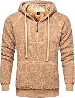 ZITY Men Fashion Cardigan Fleece Hoodie Sports Casual Winter Jacket Coat