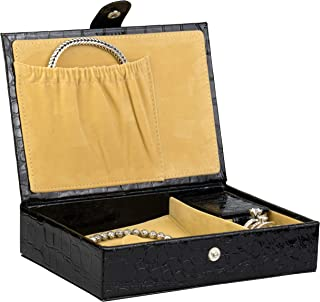 Noble Jewelry Organizer and Accessories Travel Case Holder for Necklace, Earrings, Rings, Watch and More (Medium)
