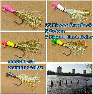 Wtrees #2741 Best Jigheads Shad Darts Shad Tube Jigh Head Kit for Bass Fishing American Shad