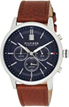 Tommy Hilfiger Men's Analogue Quartz Watch with Leather Strap 1791629