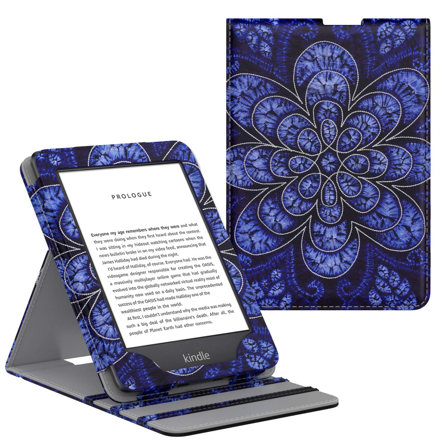 Rattan Flower Blossom 10th Generation - 2019 Release Only Vertical Flip Protective Cover with Auto Wake//Sleep MoKo Case Fits All-New Kindle