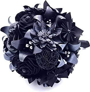 Bouquet di carta CRYSTALLIZED - SWAROVSKI Elements - Total Black - Nero - Prezioso - Originale - Unico (Sposa - Matrimonio...