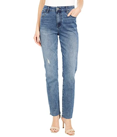 KUT from the Kloth Chrissie High-Rise Slim Straight Leg in Outgoing (Outgoing) Women