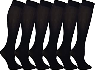 Queen Size Trouser Socks for Women, 6 Pairs Plus Stretchy...