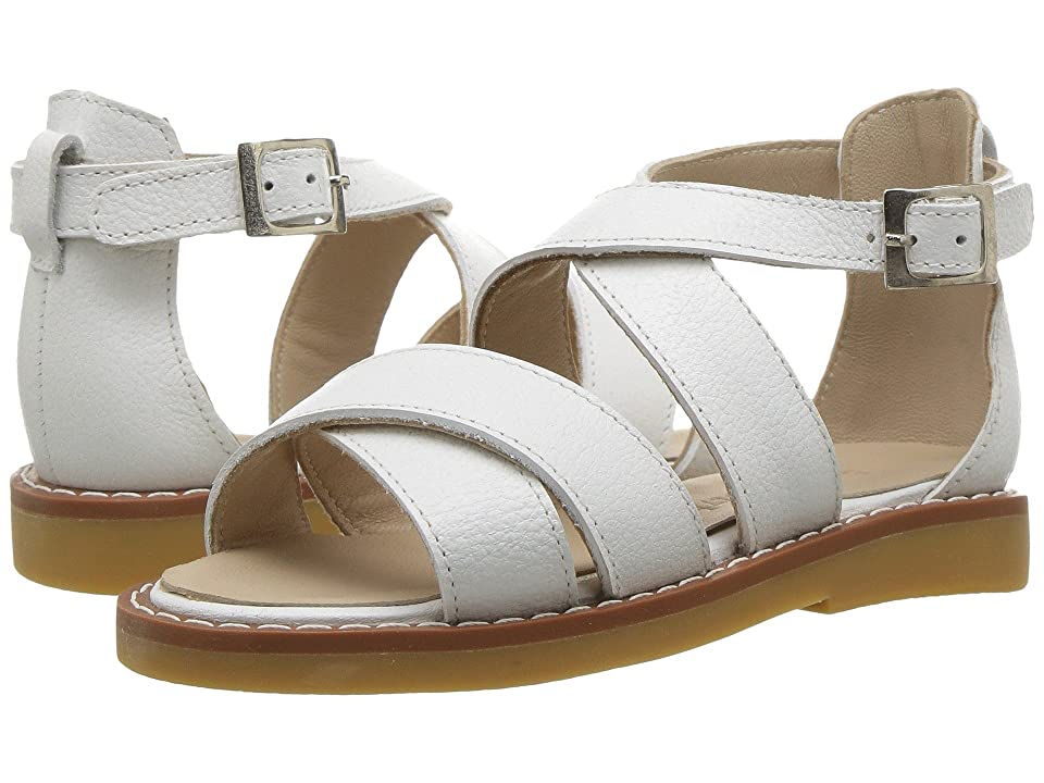 Elephantito Cecil Crossed Sandal (Toddler/Little Kid/Big Kid) (White) Girls Shoes