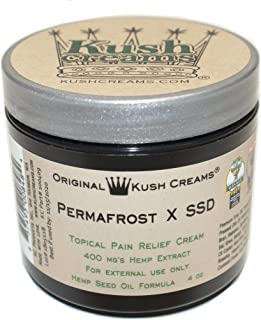 Kush Creams - Permafrost x SSD - Emu Oil & Hemp Oil Infused with 30+ Herbal Ingredients - Topical Pain Relief Cream with Aromatherapy - Award Winning - Doctor Recommended - Lab Tested - 4 oz Jar