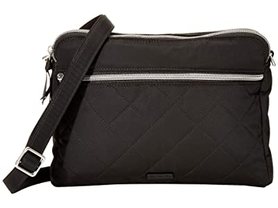 Vera Bradley Performance Twill Triple Compartment Crossbody (Black) Handbags