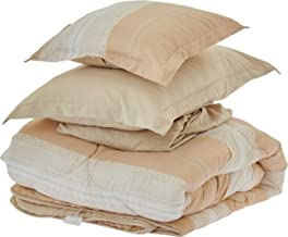 Comforter Set 6 Pieces and Double Sided by Hours, King Size, SOPHIA-014
