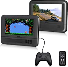 """RCA (DRC69705E28G) - 7"""" Dual Screen Mobile DVD Player System & Game Pad - Set of Two 7-Inch Screens, (6-Piece Kit)"""