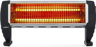 Tekkio T2002 - Estufa Eléctrica De Cuarzo De Suelo con 2 Barras, 1500w con 2 Niveles De Potencia 750w Y 750w, Interruptor ...