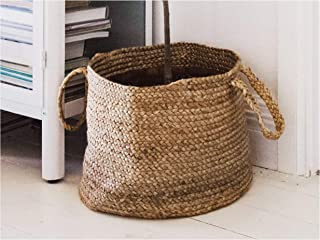 Printshoppie Handcrafted Woven Storage Basket Cotton Rope Organizer Baby Laundry Baskets for Blanket Toys Towels Nursery Hamper Bin with Handle (12X12X12)