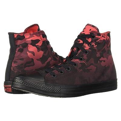 Converse Chuck Taylor(r) All Star(r) Gradient Camo Hi (Sedona Red/Black/Black) Athletic Shoes