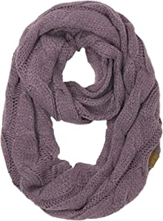 CC Winter Soft Matching Unisex Chunky Knit Cowl Loop Infinity Scarf