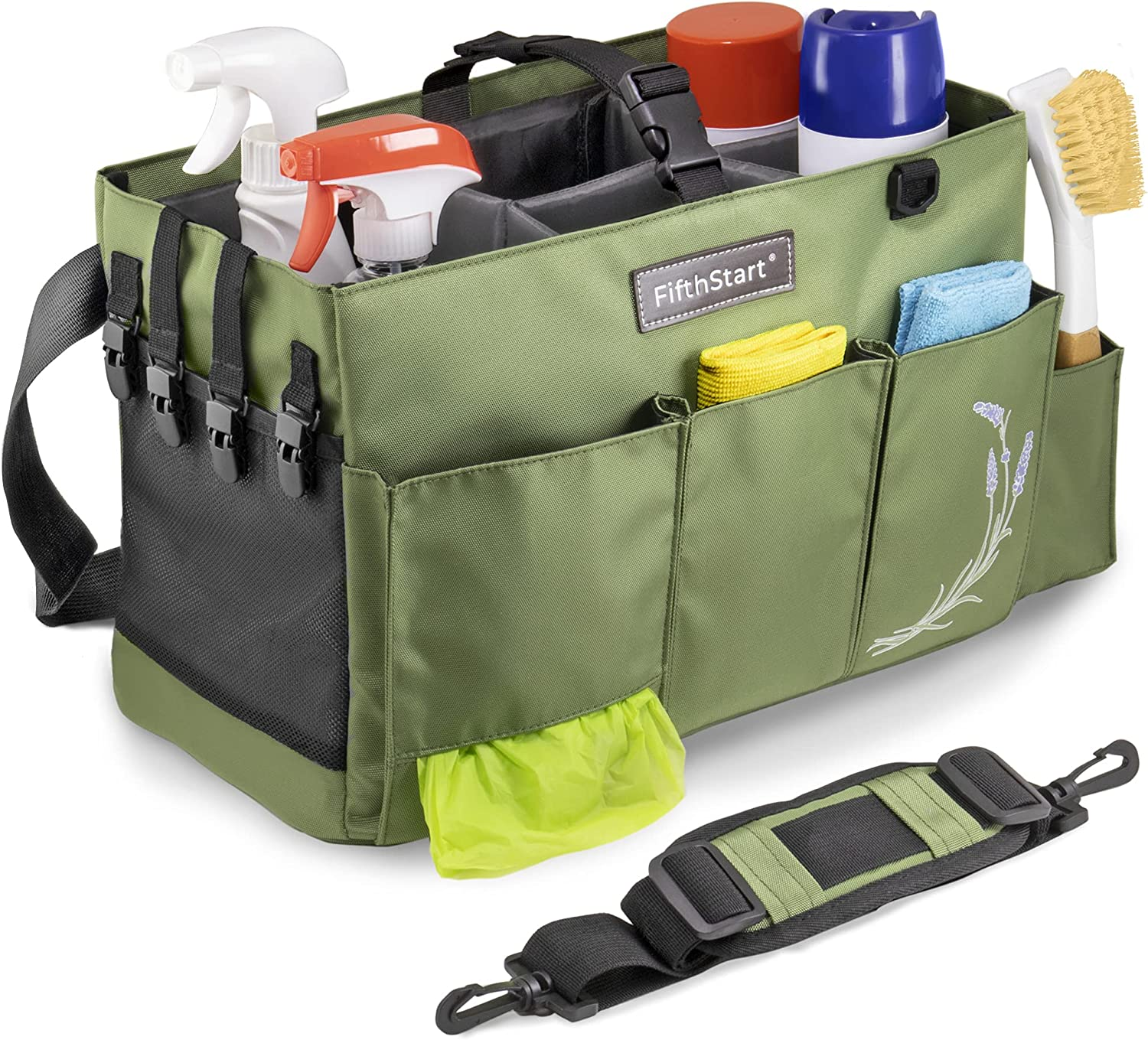 FifthStart Large Wearable Max 58% OFF Cleaning Caddy Super beauty product restock quality top with Handle Organ