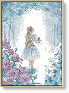 Cross Stitch Stamped Kit Pre-Printed Cross-Stitching Patterns for Beginner Kids & Adults – Embroidery Crafts Needlepoint Starter Kits, to Explore The Miracle